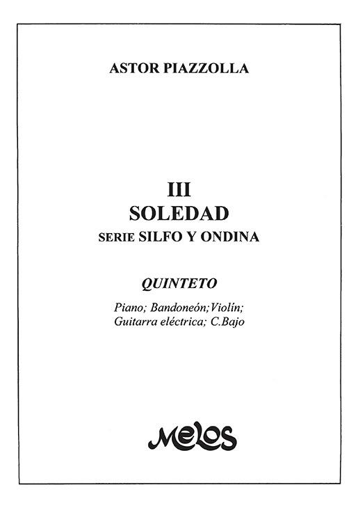 Soledad (nº 3 De  Silfo Y Ondina )