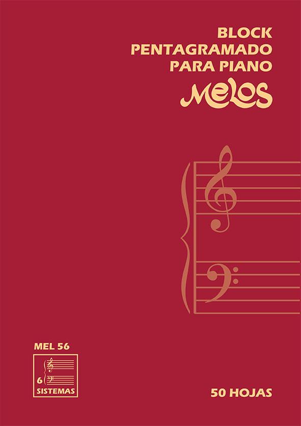 Block Pentagramado Para Piano (50 Hojas) – 6 Sistemas