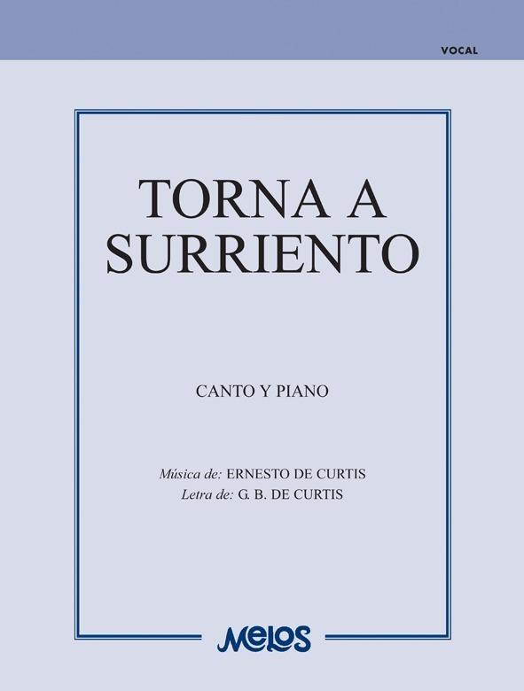 Torna A Surriento (canción Napolitana)