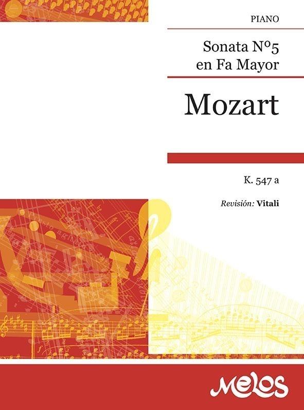 Sonatas Nº 5 Fa Mayor, K. 547