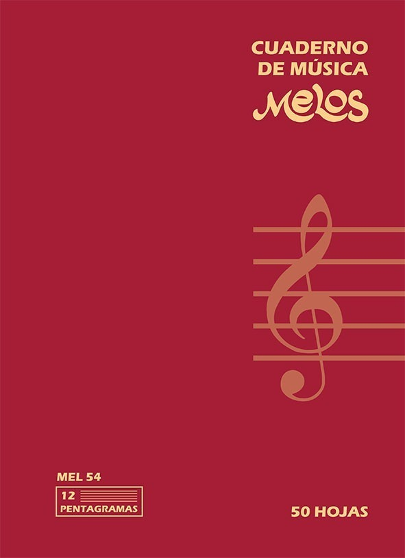 Cuaderno Pentagramado (50 Hojas) – 12 Pentagramas