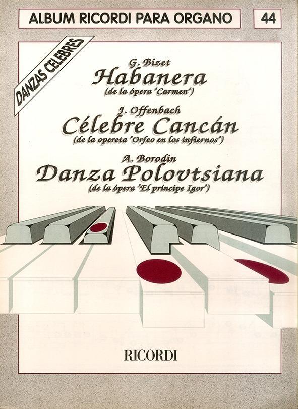 Álbum Para Órgano Nº 44 Danzas Célebres