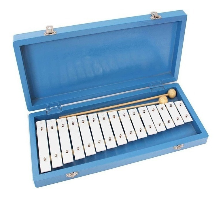 Metalofon 15 Notas – Caja Azul